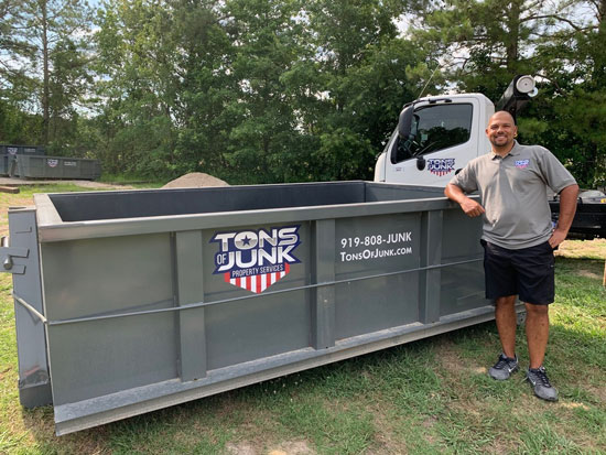 10 yard roll off dumpster in Cary, NC