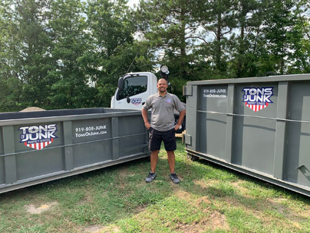 10 yard and 15 yard dumpster to rent near Raleigh, NC